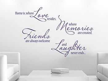 wandtattoo spr che als motivierende wanddeko. Black Bedroom Furniture Sets. Home Design Ideas