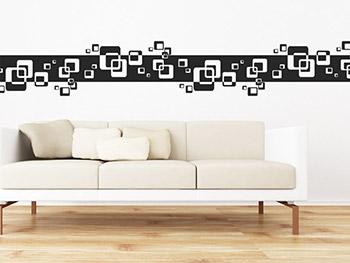 wandtattoo bord re mit quadraten in retro cube form. Black Bedroom Furniture Sets. Home Design Ideas