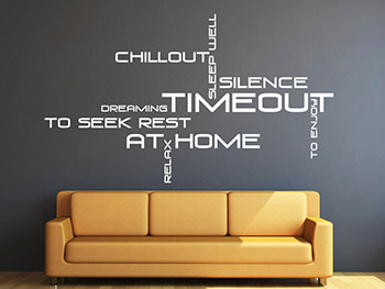 wandtattoo wortwolke timeout chillout at home. Black Bedroom Furniture Sets. Home Design Ideas
