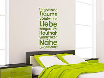 schlafzimmer grün weiß: wandbanner gute nacht. discount jugend ... - Wandgestaltung Schlafzimmer Grun