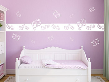 wandtattoo bord re schmetterlinge wandtattoo kinderzimmer. Black Bedroom Furniture Sets. Home Design Ideas