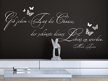 wandtattoo zitate als wanddeko. Black Bedroom Furniture Sets. Home Design Ideas
