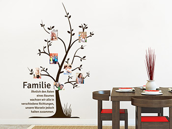 wandtattoo fotobaum familie wandtattoo fotorahmen. Black Bedroom Furniture Sets. Home Design Ideas