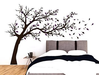 wandtattoo b ume ste und str ucher zu wandgestaltung. Black Bedroom Furniture Sets. Home Design Ideas