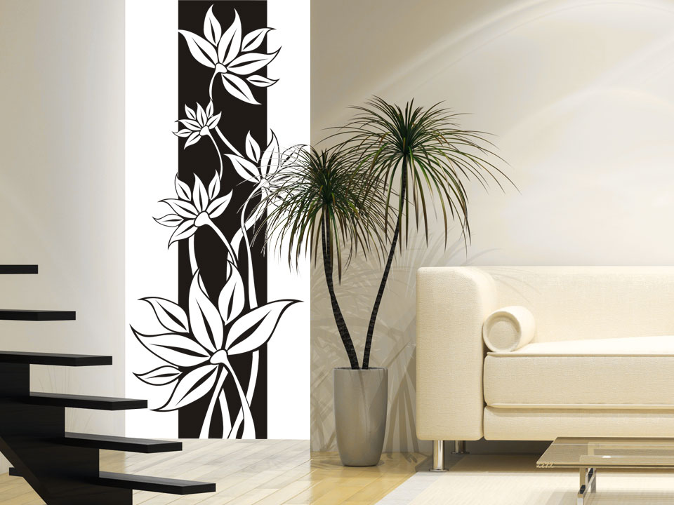 wandbanner stilvolle bl tenranke. Black Bedroom Furniture Sets. Home Design Ideas
