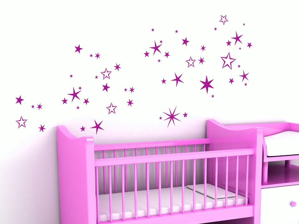 wandtattoo sternennacht sterne f rs babyzimmer. Black Bedroom Furniture Sets. Home Design Ideas
