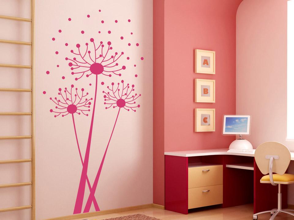 wandtattoo luftiger l wenzahn als pusteblume. Black Bedroom Furniture Sets. Home Design Ideas