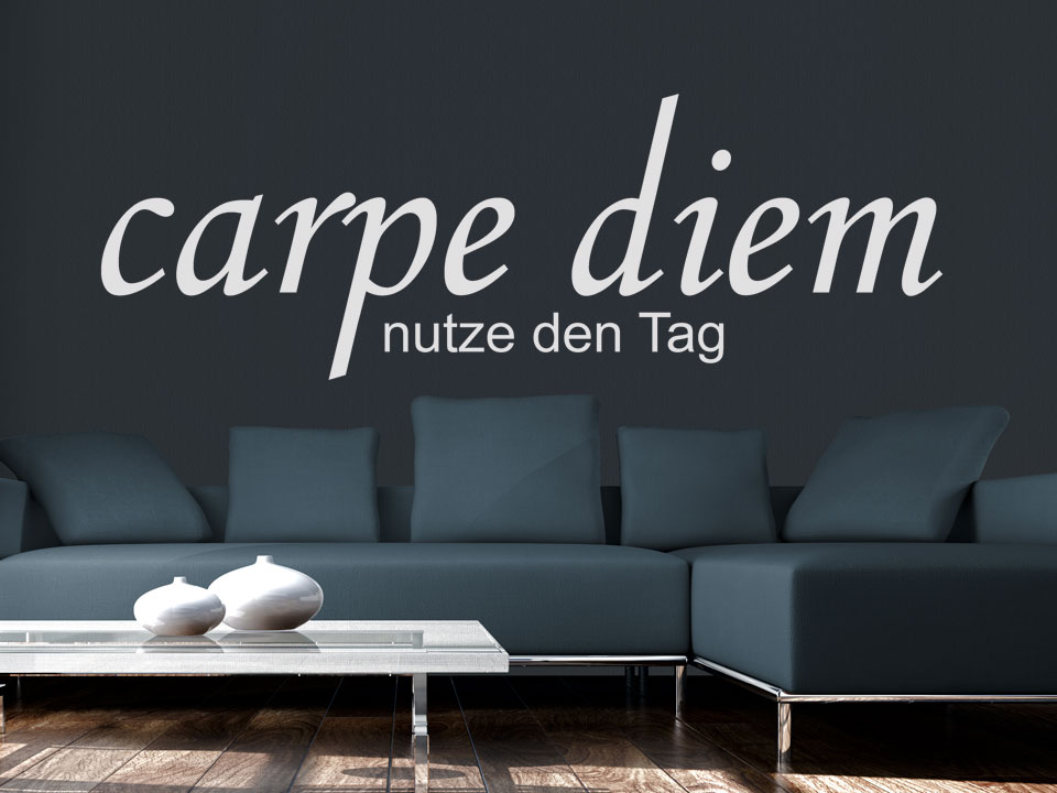 wandtattoo carpe diem. Black Bedroom Furniture Sets. Home Design Ideas