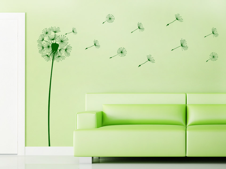 wandtattoo stilvolle pusteblume wandtattoo pusteblumen. Black Bedroom Furniture Sets. Home Design Ideas