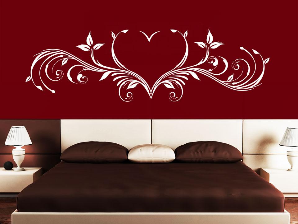 wandtattoo ornament herz wandtattoo ornamente schlafzimmer wandtattoos schn rkel. Black Bedroom Furniture Sets. Home Design Ideas