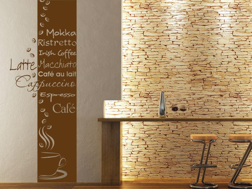 Marvelous Idee Wandgestaltung Kche Braun Die Exklusive Wandgestaltungsidee Fr  Passionierte Kaffeetrinker Mit   Rote Wand Esszimmer Good Ideas