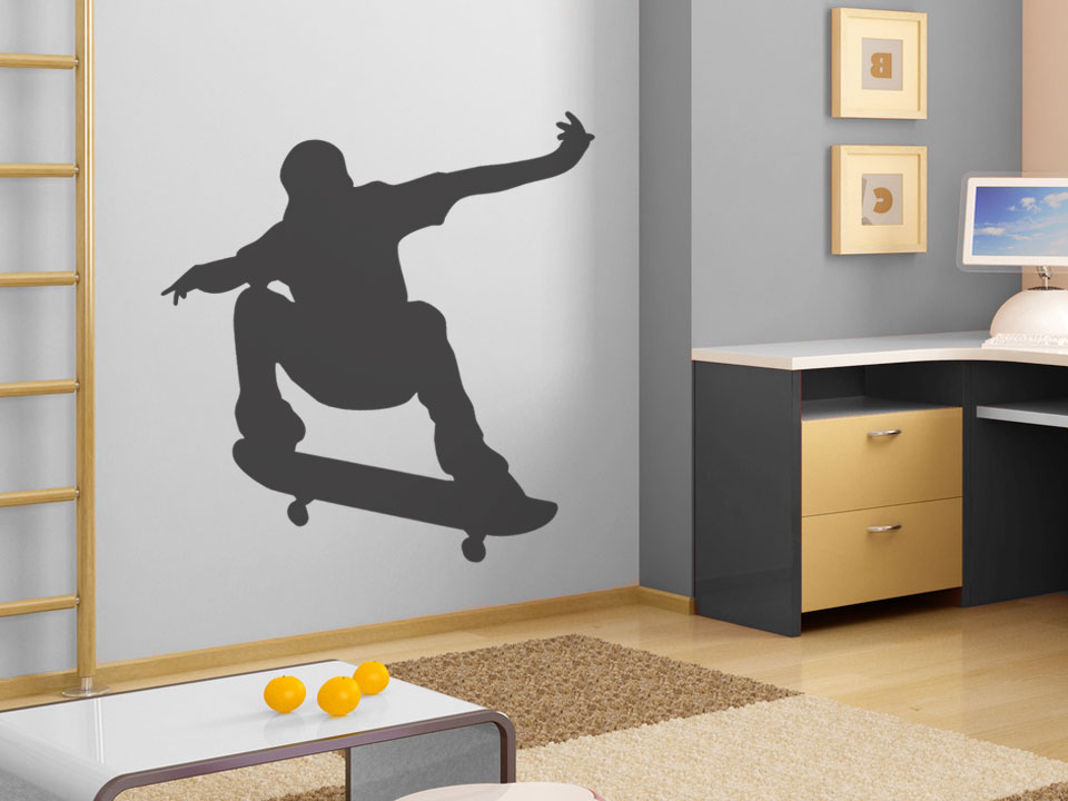 stylisches skateboard wandtattoo skater bei. Black Bedroom Furniture Sets. Home Design Ideas