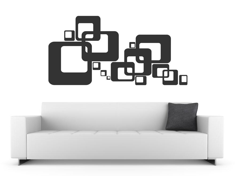 wandtattoo cubes deko wandtattoos im retro stil cube wandtattoo. Black Bedroom Furniture Sets. Home Design Ideas