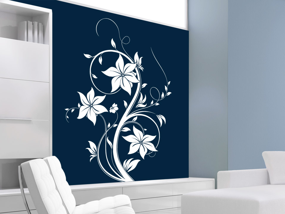 wandtattoo bezaubernde bl ten f r den wohnbereich. Black Bedroom Furniture Sets. Home Design Ideas