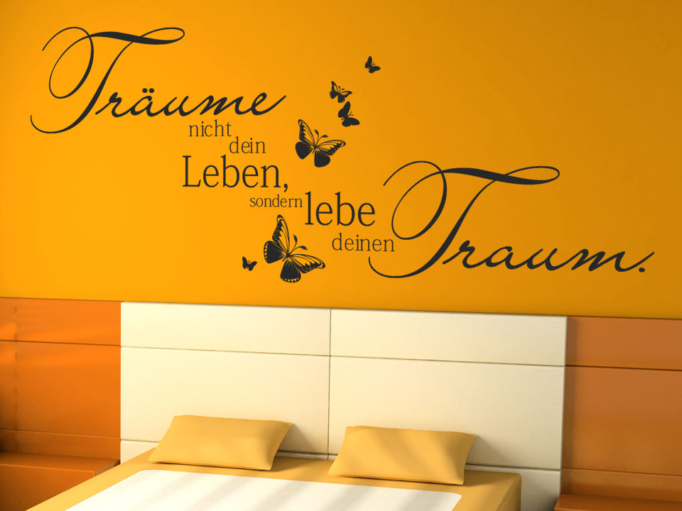 wandtattoo tr ume nicht wandtattoo schlafzimmer traum wandtattoos spr che. Black Bedroom Furniture Sets. Home Design Ideas