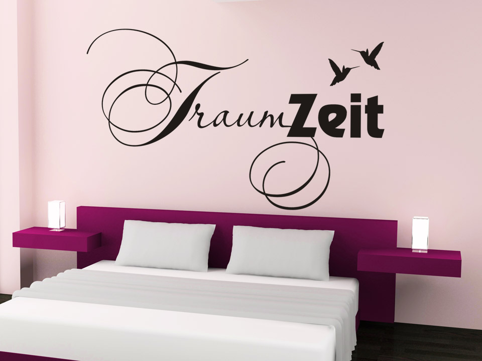 wandtattoo traumzeit wandtattoo wort traum schlafzimmer wandtattoos worte. Black Bedroom Furniture Sets. Home Design Ideas