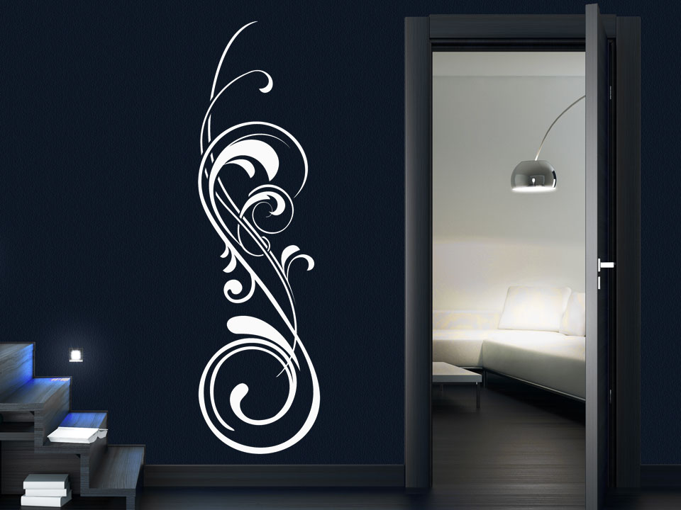 wandtattoo edles ornament mit schn rkel wandtattoo. Black Bedroom Furniture Sets. Home Design Ideas