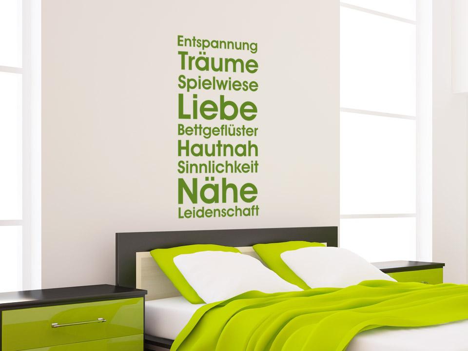 wandtattoo schlafzimmer grun ~ möbel inspiration und innenraum ideen