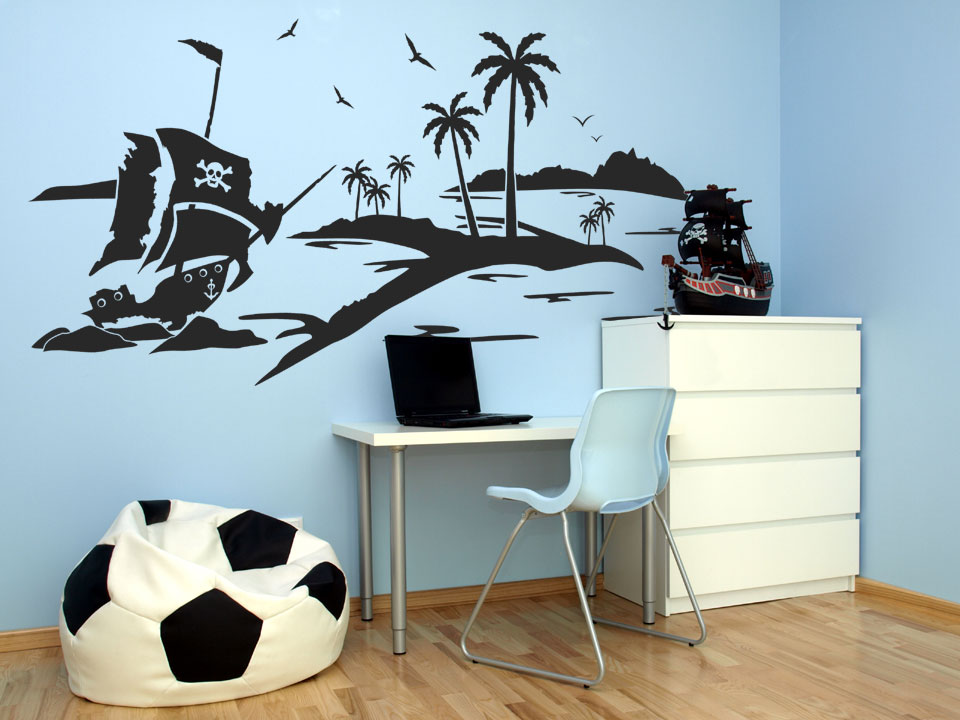 wandtattoo pirateninsel wandtattoo pirateninsel pirat wandtattoos schiff piraten. Black Bedroom Furniture Sets. Home Design Ideas