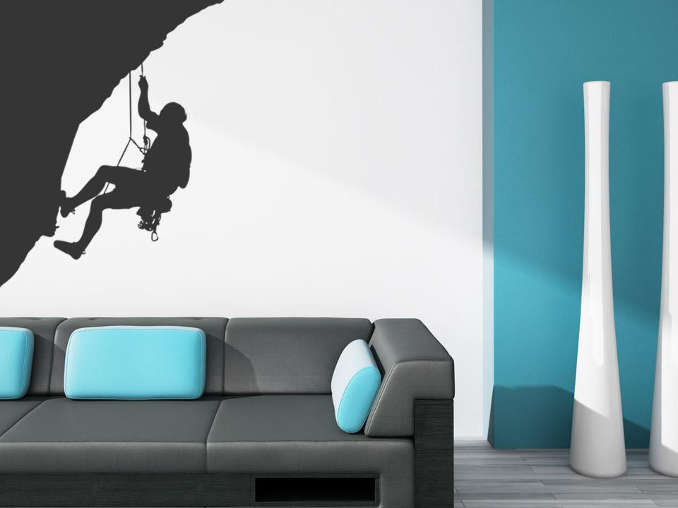 wandtattoo bergsteigen bergsteiger an der felswand. Black Bedroom Furniture Sets. Home Design Ideas