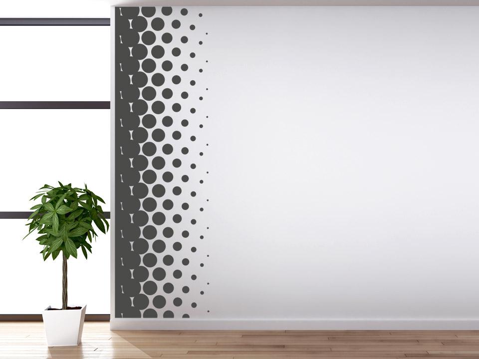 Wandbanner stylische punkte wandbanner punkte futuristisch for Wandtattoo banner