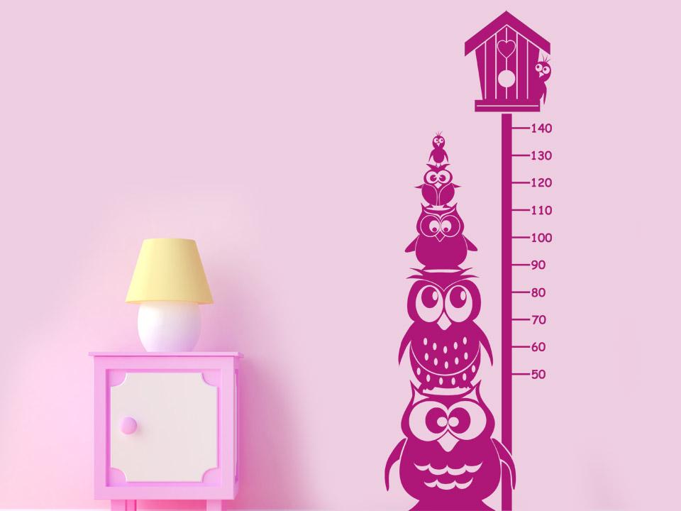 Kinderzimmer Tapete Oder Putz : Messlatte mit Eulen Wandtattoo Eulen Kinderzimmer Wandtattoos Kinder