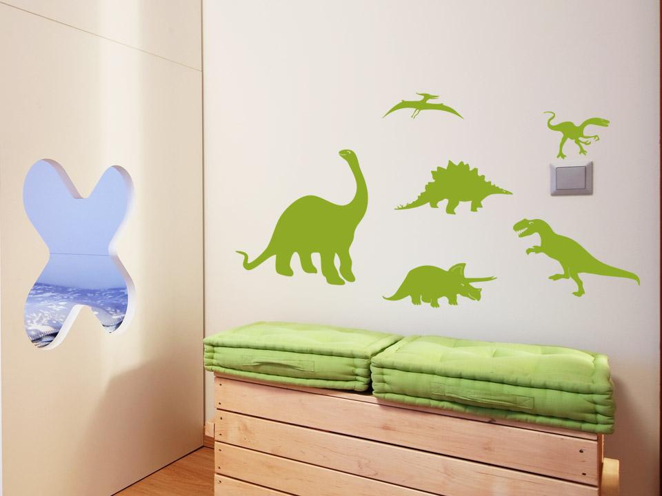 Wandtattoo dinos 6er set wandtattoo dinosaurier f rs - Wandtattoo dinosaurier ...