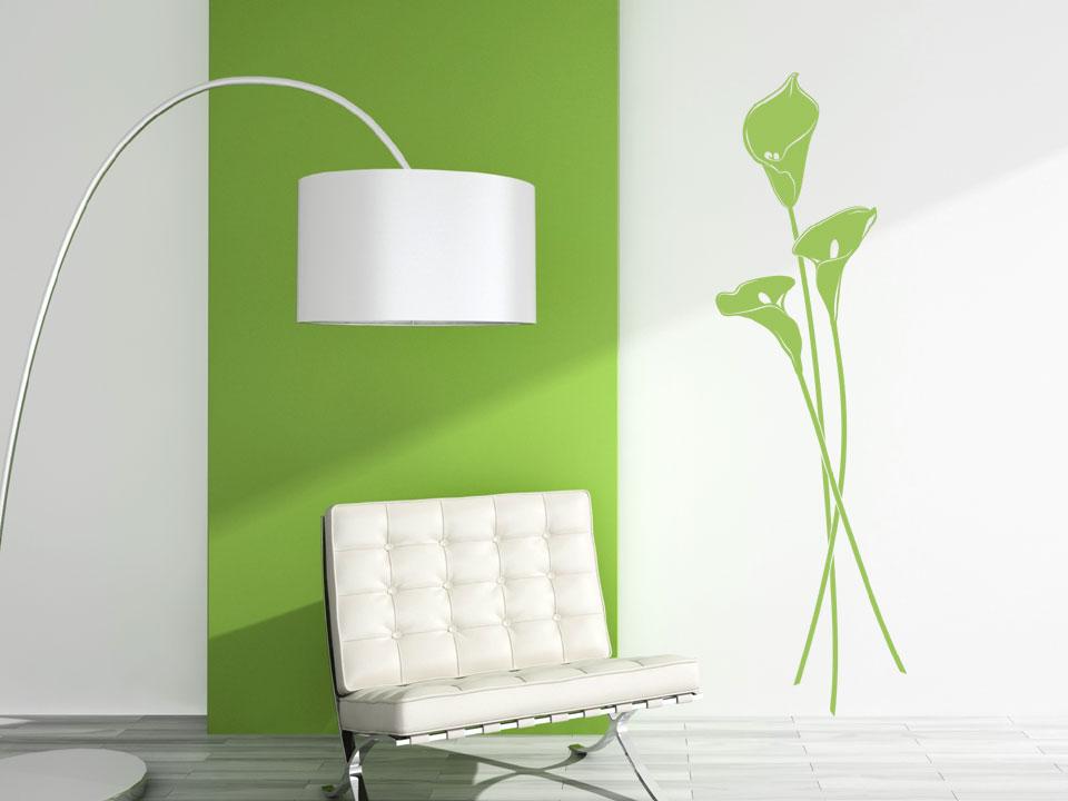 Wandgestaltung wohnzimmer grun braun