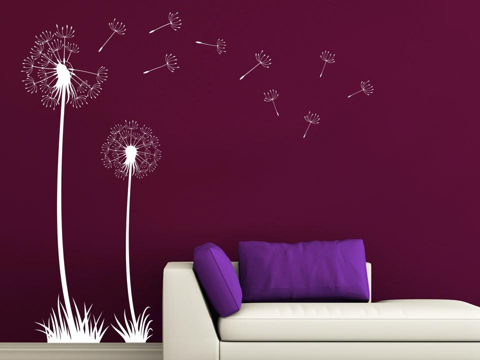 wandtattoo pusteblume schablone alles ber wohndesign und m belideen. Black Bedroom Furniture Sets. Home Design Ideas
