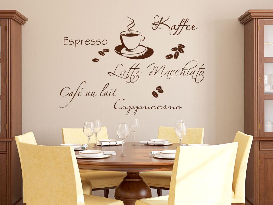 wandtattoo kaffee style wandtatttoo kaffee sorten. Black Bedroom Furniture Sets. Home Design Ideas