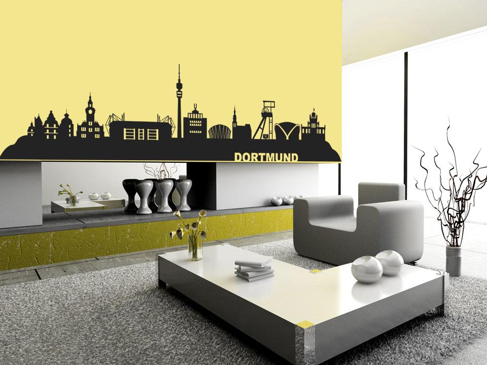 Wandtattoo Dortmund Wandtattoo Stadt Silhouette Skyline
