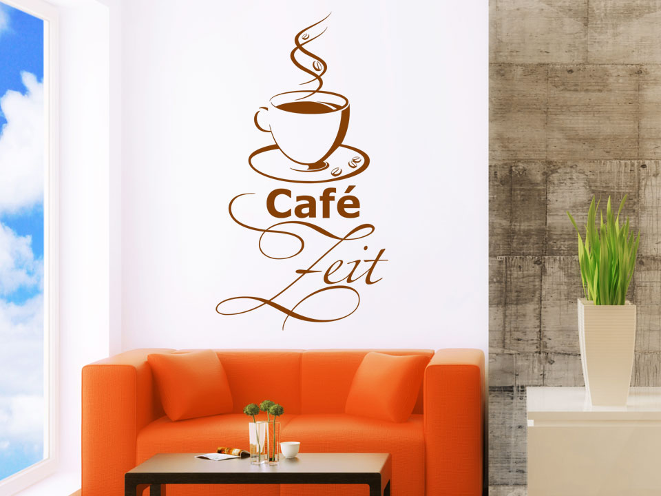 wandtattoo caf zeit wandtattoo kaffee zeit wandtattoos kaffee. Black Bedroom Furniture Sets. Home Design Ideas