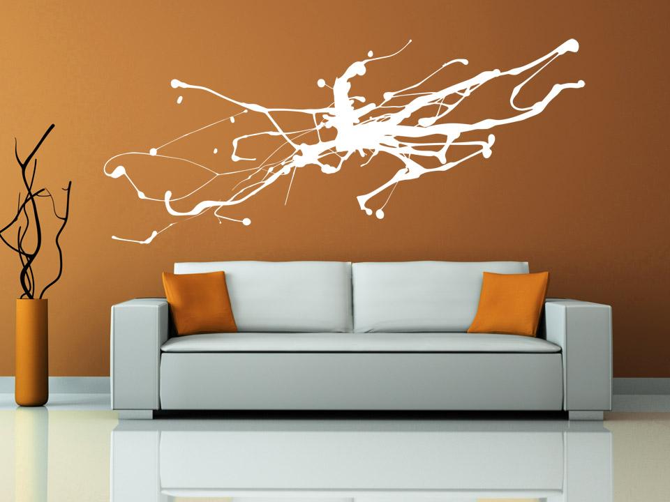 wandtattoo abstrakte kunst moderner tintenfleck. Black Bedroom Furniture Sets. Home Design Ideas