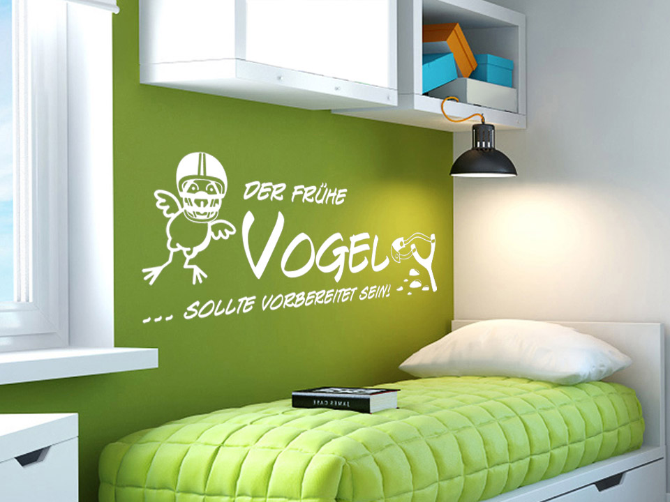 wandtattoo der fr he vogel sollte vorbereitet sein. Black Bedroom Furniture Sets. Home Design Ideas