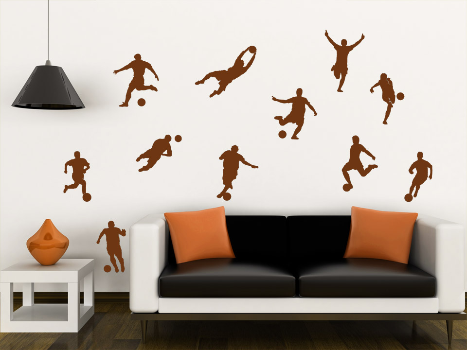 wandtattoo fu ball elf wandtattoo fu baller fu ball mannschaft wandtattoos sport. Black Bedroom Furniture Sets. Home Design Ideas