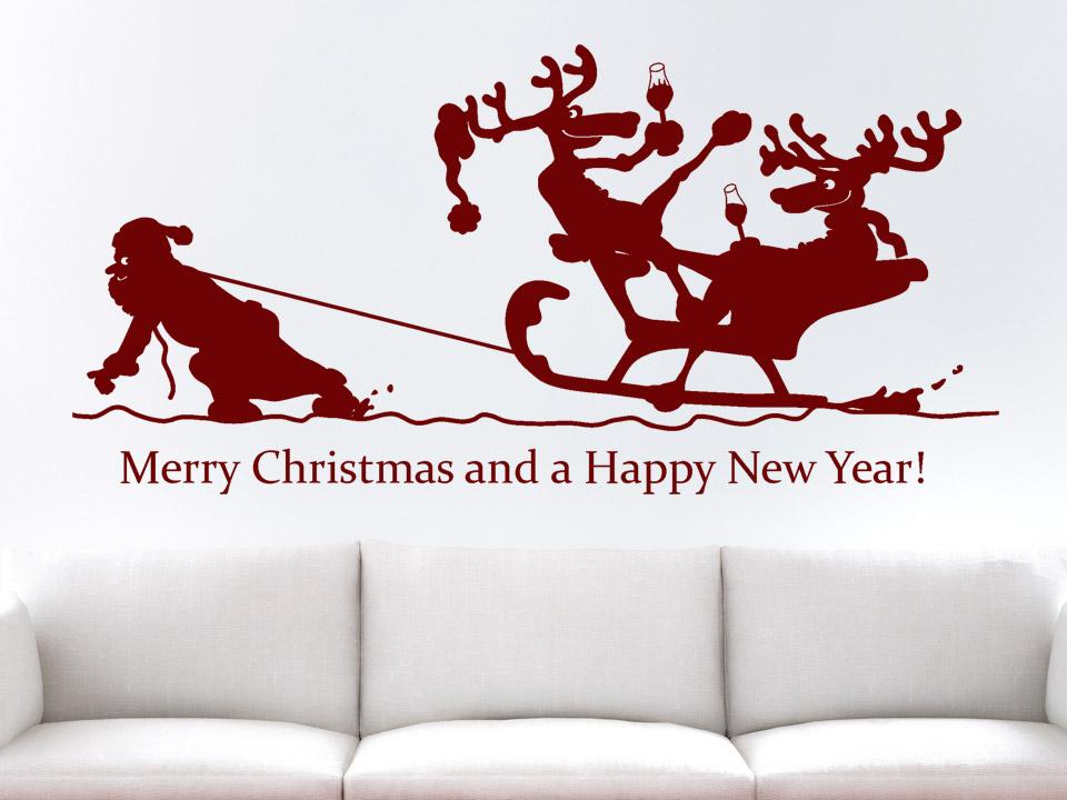 wandtattoo angetrunkene rentiere wandtattoos weihnachten. Black Bedroom Furniture Sets. Home Design Ideas
