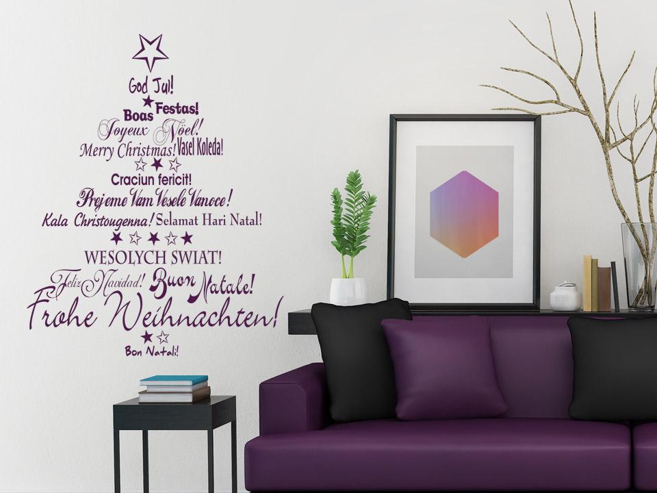 Wandtattoo schriften weihnachtsbaum - Weihnachtsbaum wand ...