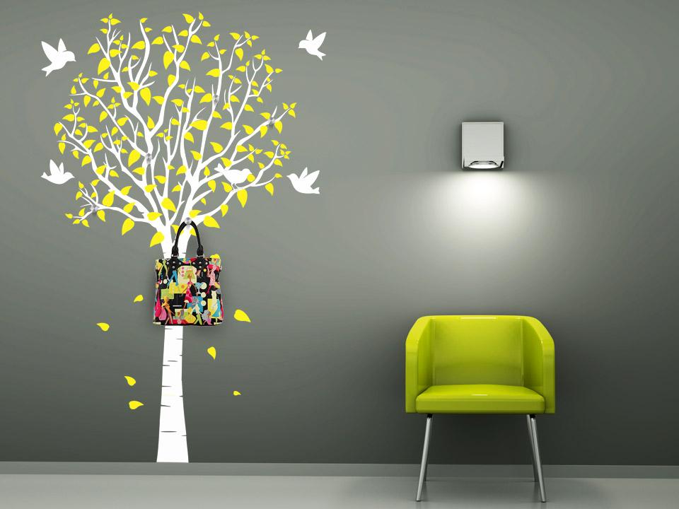 wandtattoo garderobe zweifarbiger baum wandtattoo baum garderoben wandtattoos. Black Bedroom Furniture Sets. Home Design Ideas
