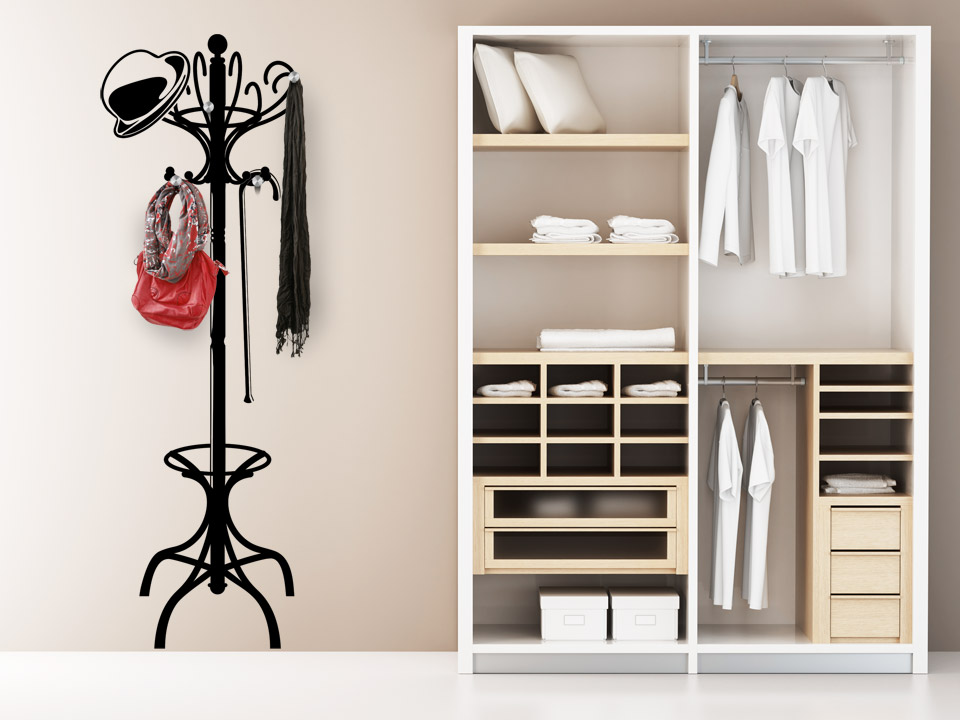 wandtattoo garderobenst nder wandtattoo garderobe wandtattoos. Black Bedroom Furniture Sets. Home Design Ideas