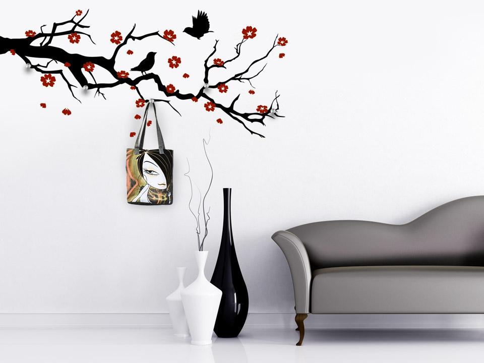 wohnzimmer zeichnung:wohnzimmer zeichnung : wandtattoo garderobe innenarchitektur zeichnung