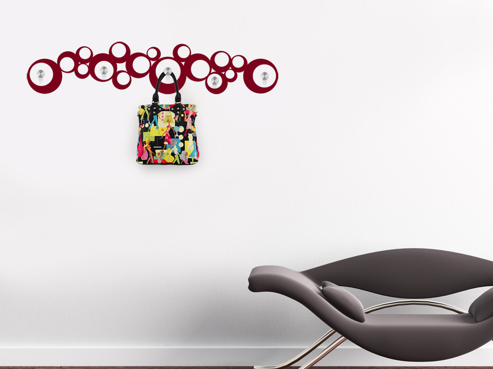 wandtattoo garderobe im retro stil. Black Bedroom Furniture Sets. Home Design Ideas
