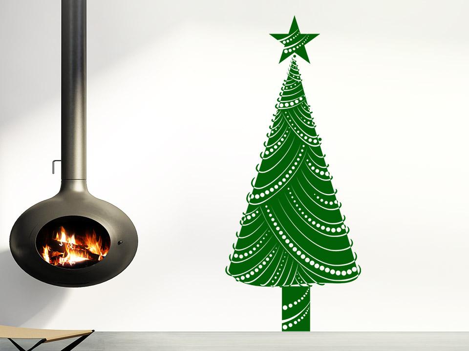Wandtattoo - Moderner Weihnachtsbaum - auf Wandtattoo.com