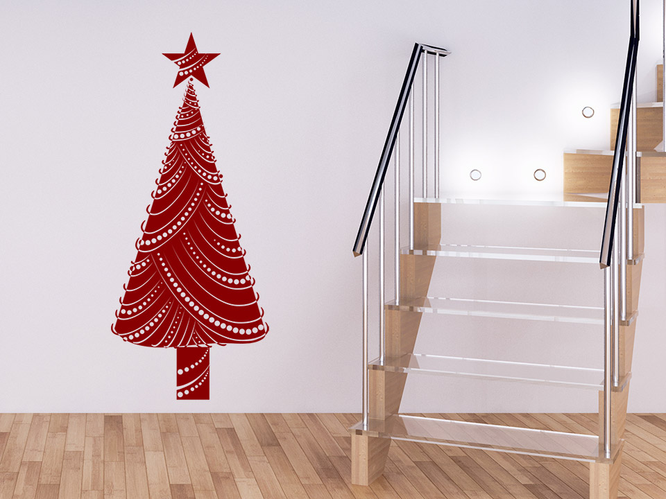 wandtattoo moderner weihnachtsbaum auf. Black Bedroom Furniture Sets. Home Design Ideas