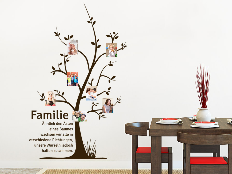 wandtattoo fotobaum familie wandtattoo fotorahmen wandtattoos originell. Black Bedroom Furniture Sets. Home Design Ideas