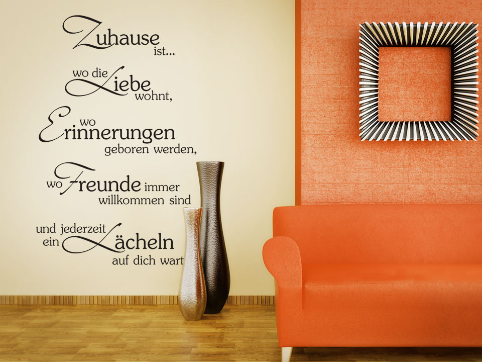 wohnzimmer wandtattoo ideen und inspirationen frs - Wohnzimmer Wanddeko