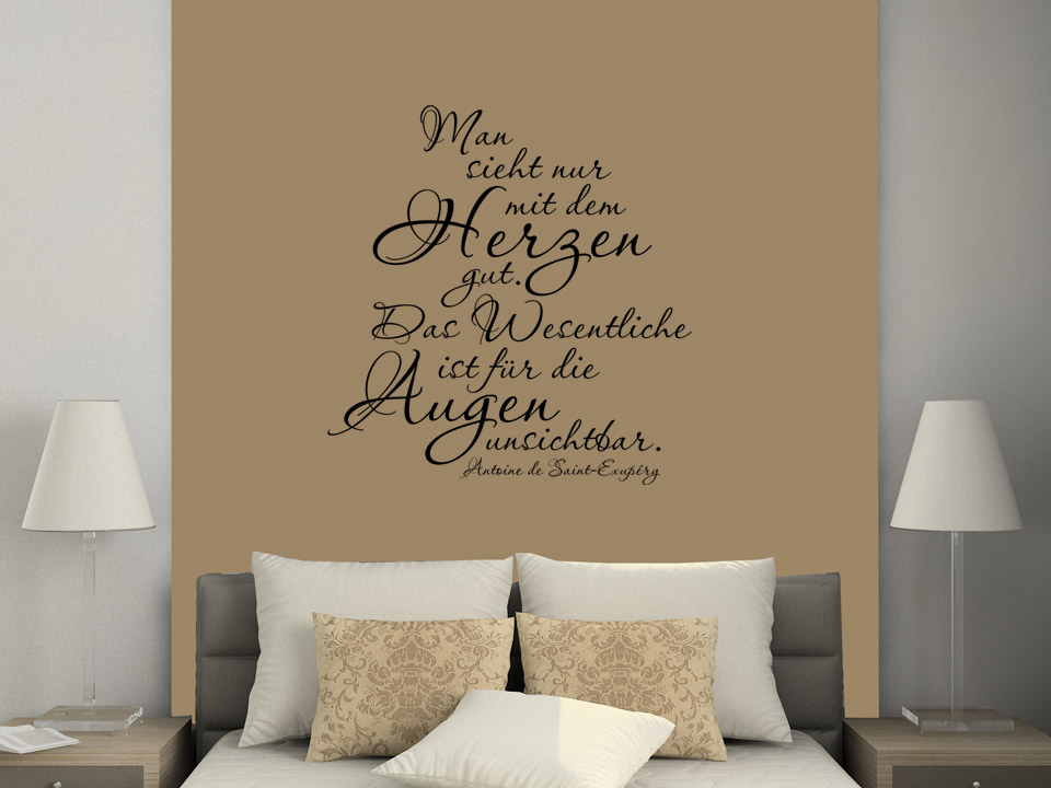Wandtattoo Ideen dekor wandtattoo schlafzimmer