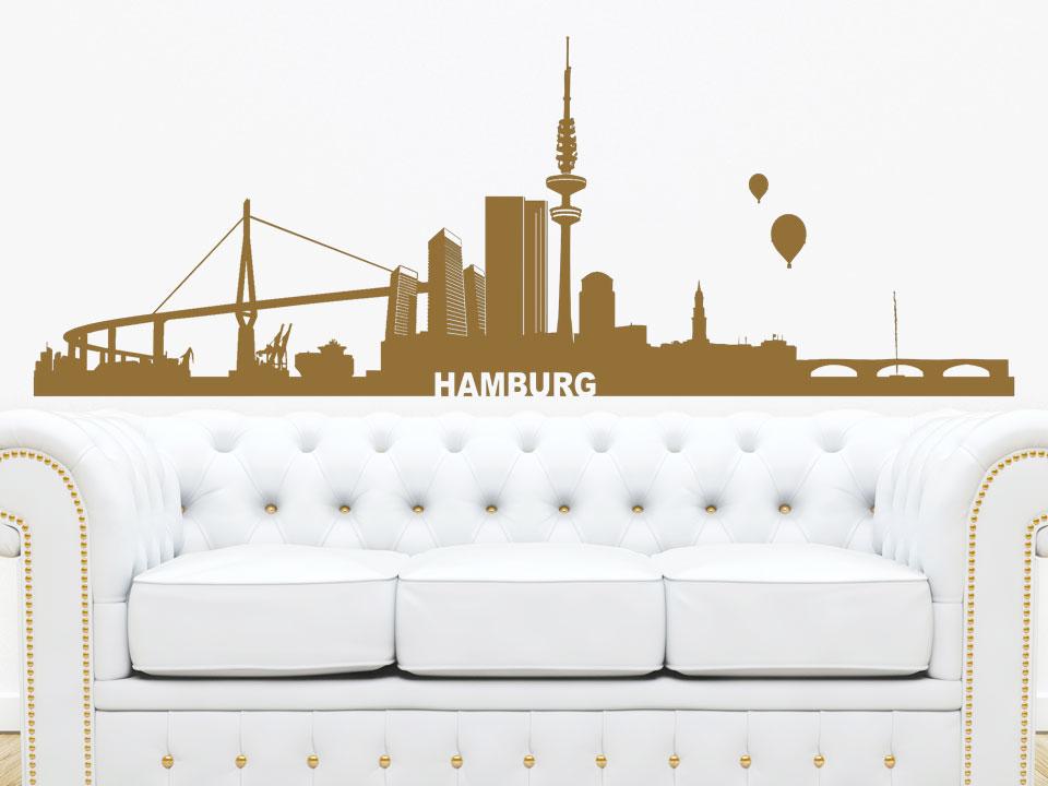 pin pin stadt wandtattoo hamburg skyline von wandtattoonet. Black Bedroom Furniture Sets. Home Design Ideas