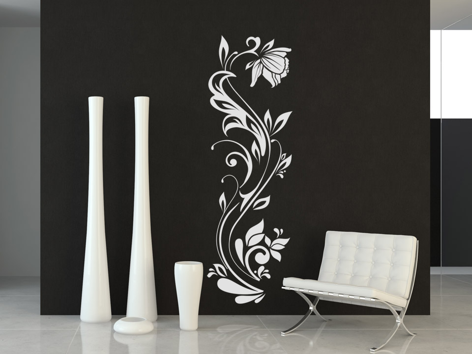 wandtattoo sch ne bl tenranke wandtattoo bl ten ranke wandtattoo blume. Black Bedroom Furniture Sets. Home Design Ideas