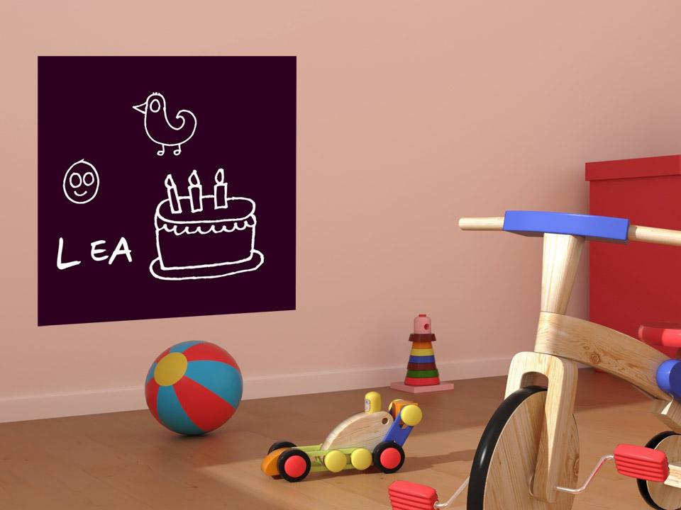 quadratische tafelfolie f r notizen und mitteilungen. Black Bedroom Furniture Sets. Home Design Ideas