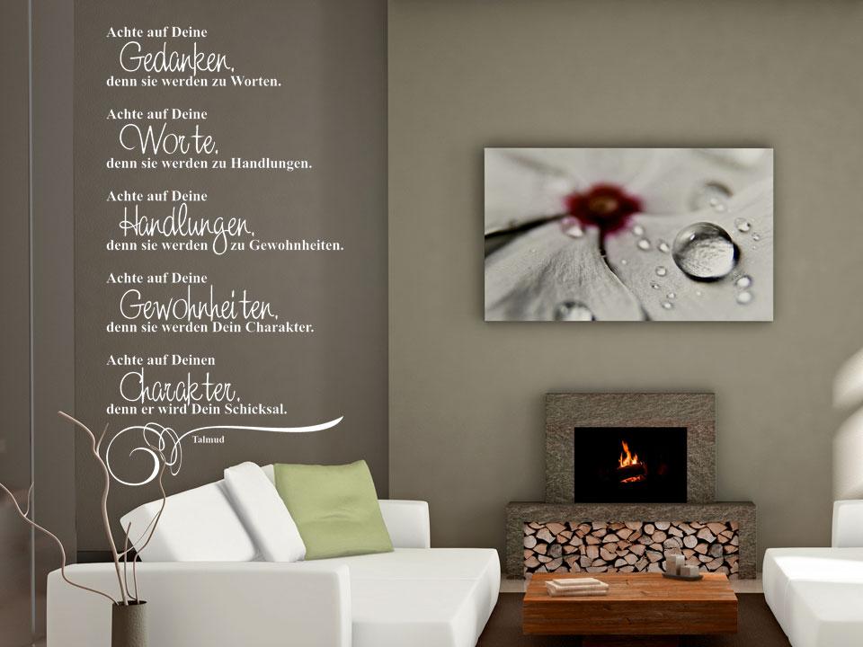 wandtattoo achte auf deine gedanken denn sie werden zu worten. Black Bedroom Furniture Sets. Home Design Ideas